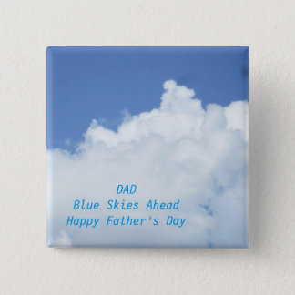 Blue Sky and White Clouds 2 Inch Square Button