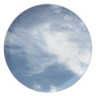 Blue Sky and  White Clouds Dinner Plates