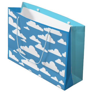 BLUE SKY AND WHITE CLOUDS Large Gift Bag