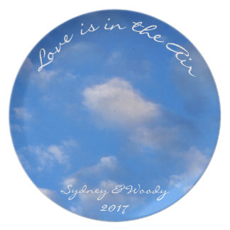 Blue Sky and White Clouds Party Plates