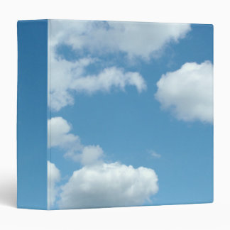 blue sky and white clouds vinyl binders