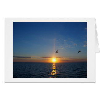Blue Sky at Sunset Card