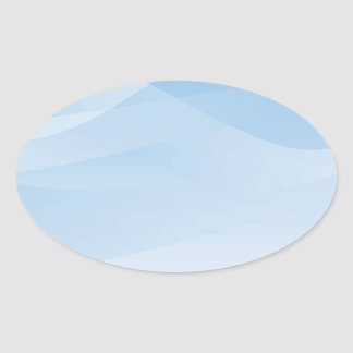 Blue Sky Background Oval Sticker
