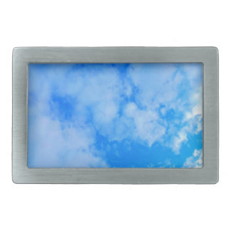 blue sky. belt buckle
