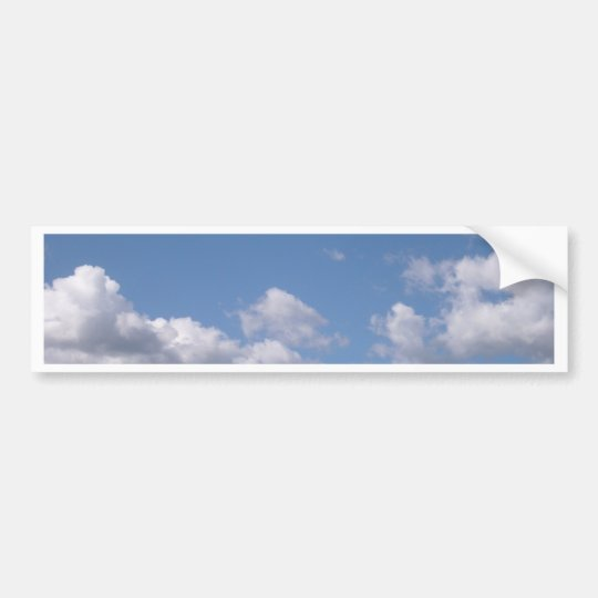 blue sky bumper sticker