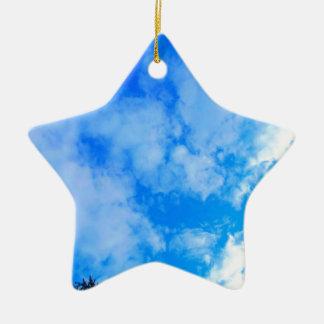 blue sky. ceramic ornament