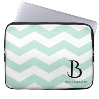 Blue Sky Chevron Monogram Laptop Sleeve