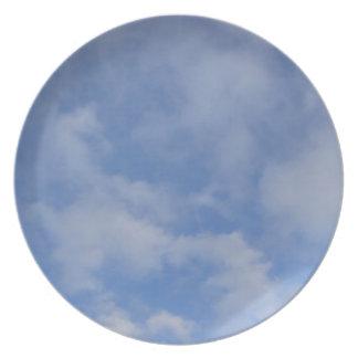 Blue Sky Clouds Plates