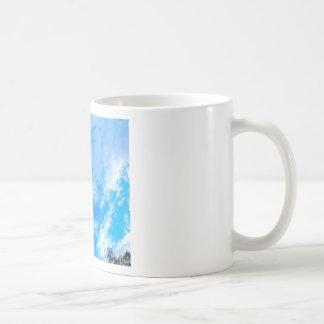 blue sky. coffee mug