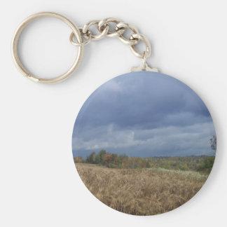 Blue Sky Farm Basic Round Button Keychain