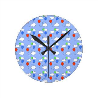 blue sky, free balloons round clock