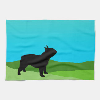 Blue Sky French Bulldog Kitchen Towel