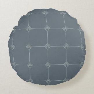 Blue Sky Geo Jersey Knit Round Pillow