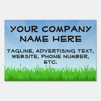 Blue Sky Green Grass Sign
