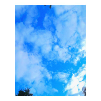 blue sky. letterhead
