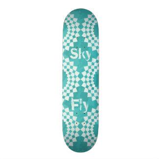 Blue Sky Mandalas Skate Deck