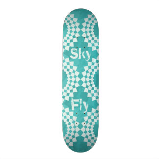 Blue Sky Mandalas Skateboard