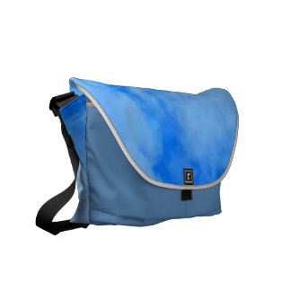 Blue Sky Medium Messenger Bag Outside Print