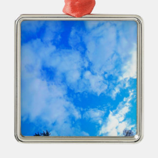 blue sky. metal ornament