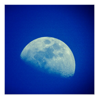 Blue Sky Moon Perfect Poster