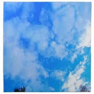 blue sky. napkin