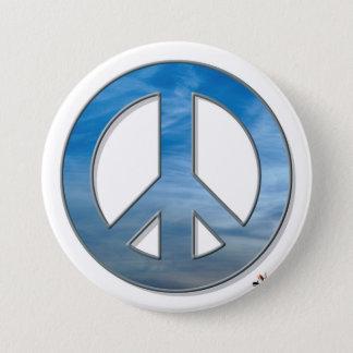 Blue Sky Peace Button