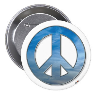 Blue Sky Peace Button