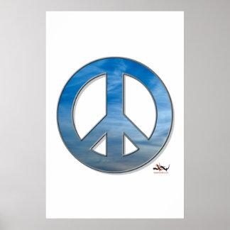 Blue Sky Peace Poster