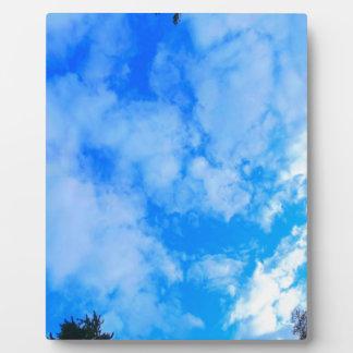blue sky. plaque