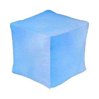 Blue sky  Polyester Cubed Pouf (Small)
