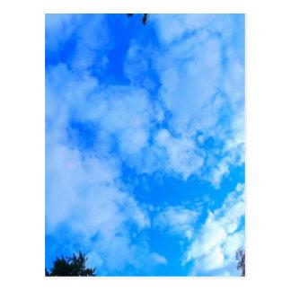 blue sky. postcard