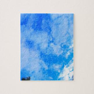 blue sky. puzzle