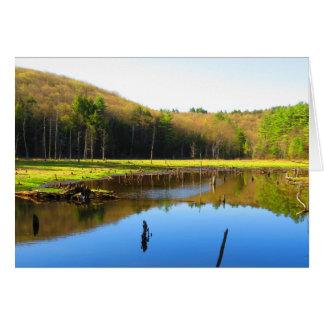 Blue Sky Reflection Card