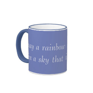 Blue Sky Ringer Mug