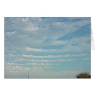 blue sky ripple clouds blank card