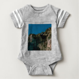blue sky rock cliffs baby bodysuit