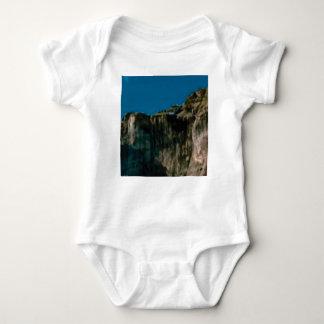 blue sky rock cliffs baby bodysuit
