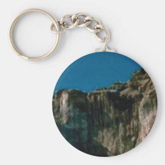 blue sky rock cliffs keychain