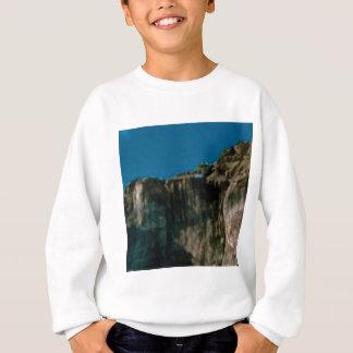 blue sky rock cliffs sweatshirt
