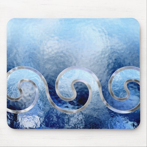 blue sky sea and surf mouse pad