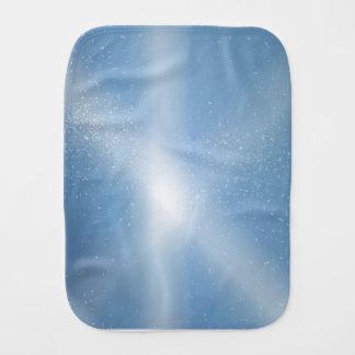 Blue Sky Snow Background Burp Cloth