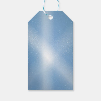 Blue Sky Snow Background Gift Tags