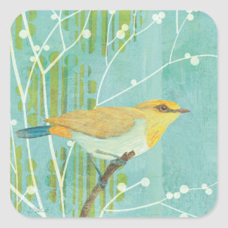 Blue Sky Songbird Square Sticker