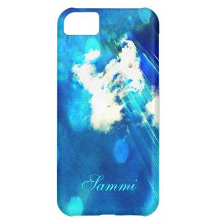 Blue Sky Sparkle iPhone 5c case *Personalize*