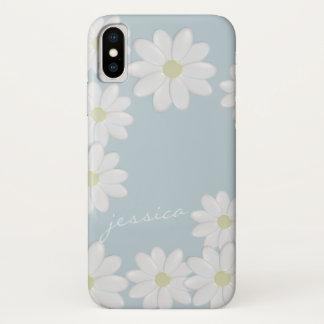 Blue Sky Springtime Daisies Custom iPhone X Case