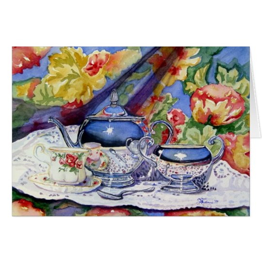 Blue Sky Tea Card