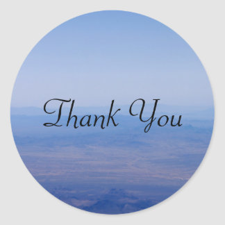 Blue Sky Thank You Classic Round Sticker