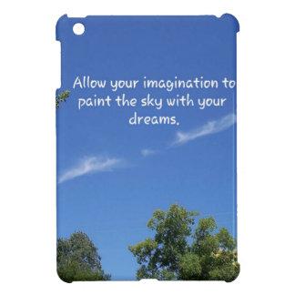 Blue Sky Tree Tops Inspirational Quote iPad Mini Covers