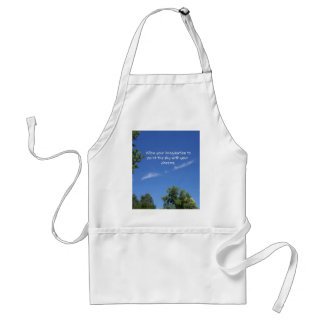 Blue Sky Tree Tops Inspirational Quote Standard Apron