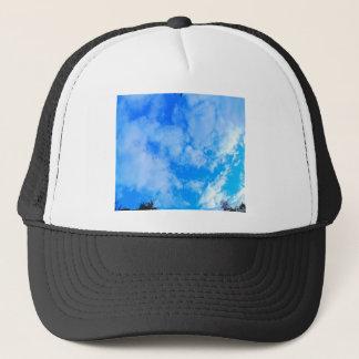 blue sky. trucker hat